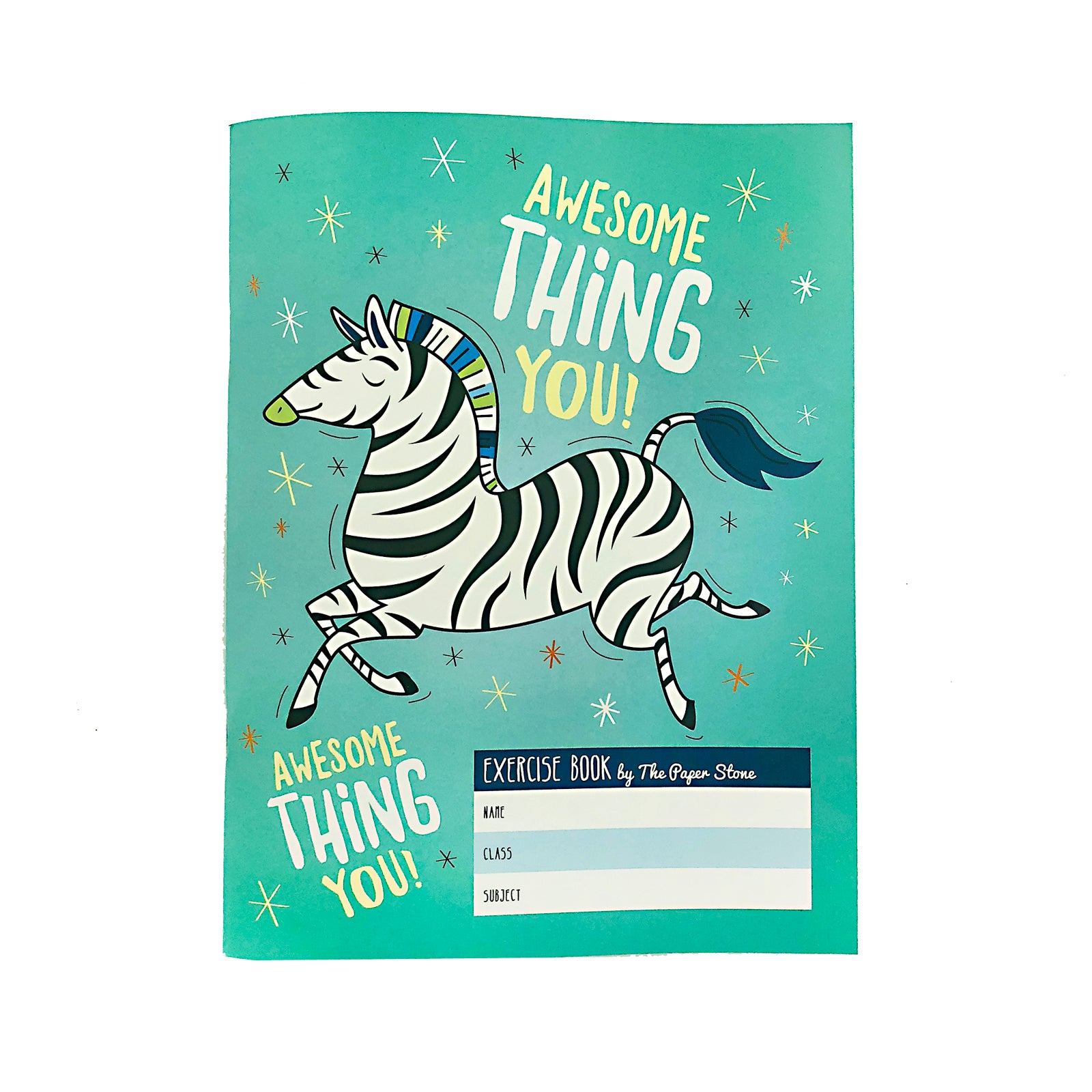 Exercise Book - Awesome Zebra