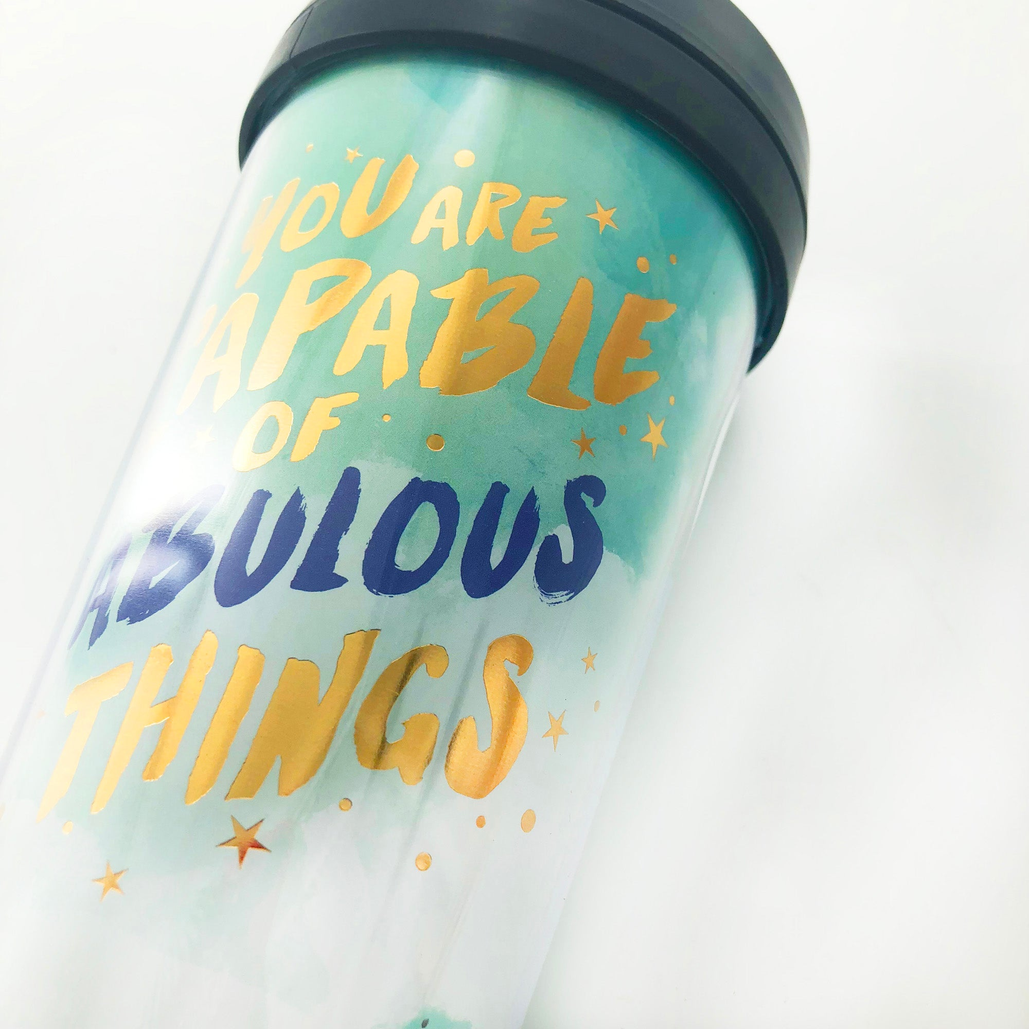 Tumbler - Capable Fabulous Turquoise