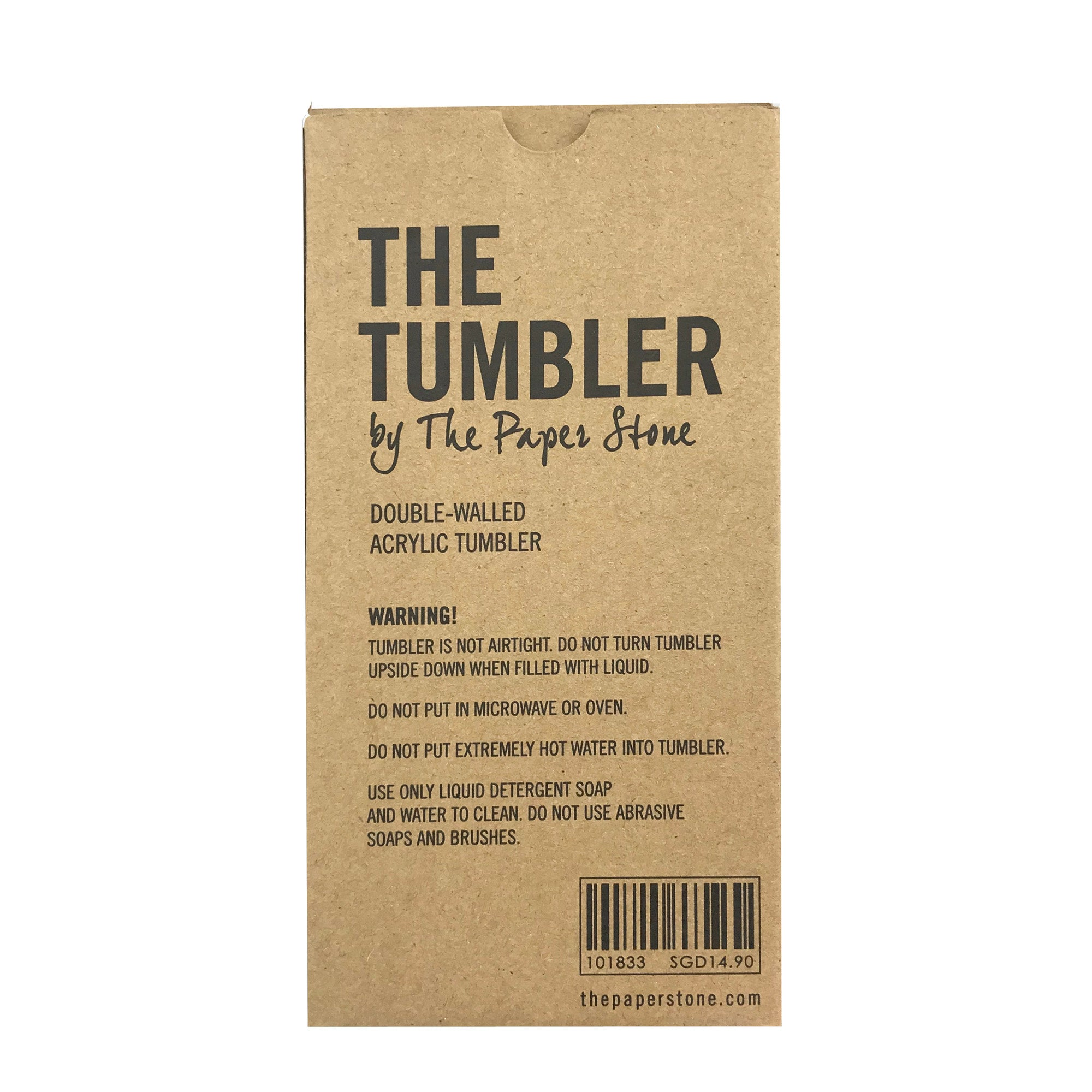 Tumbler - Thinker Doer Black Marble