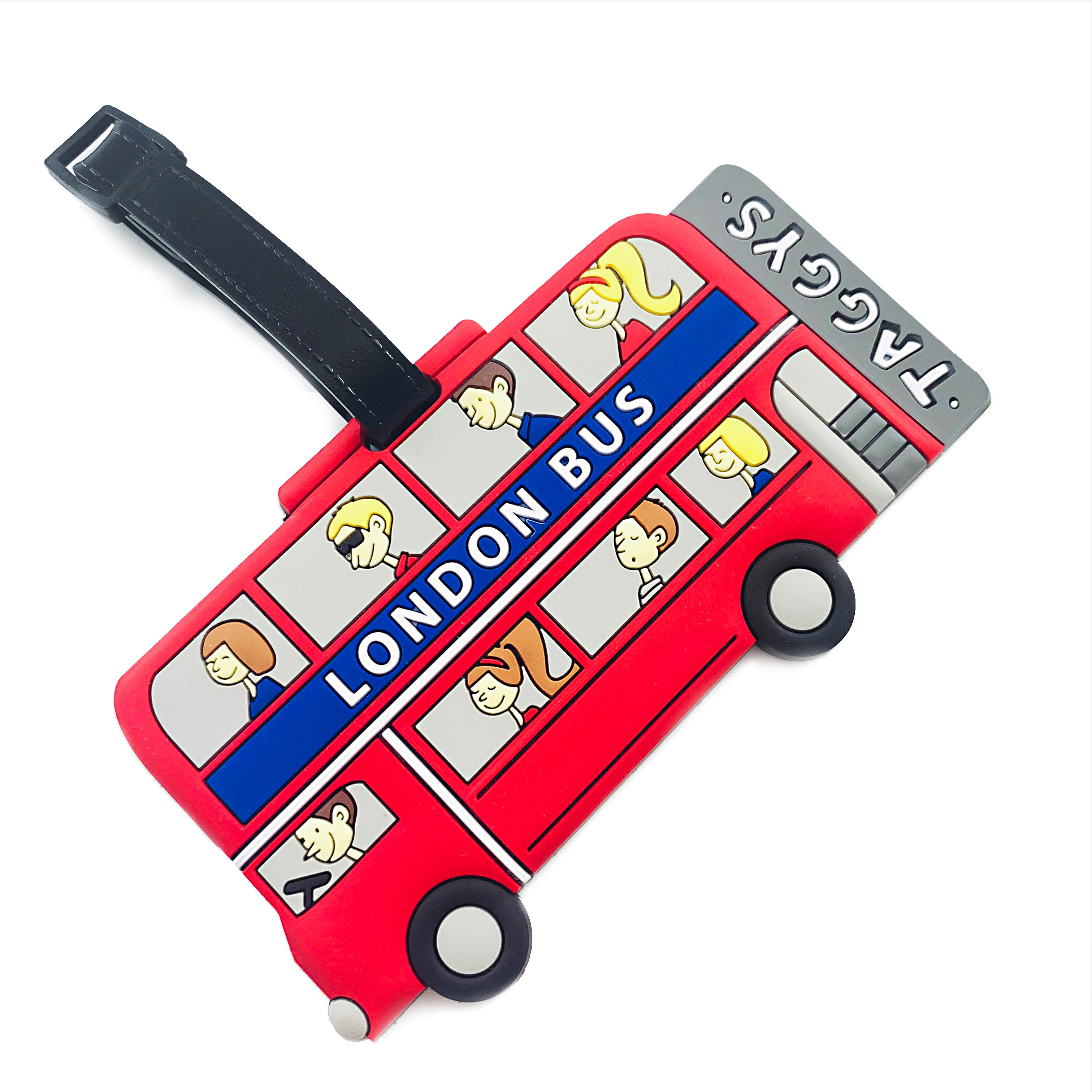 Taggys Luggage Tag - London Bus