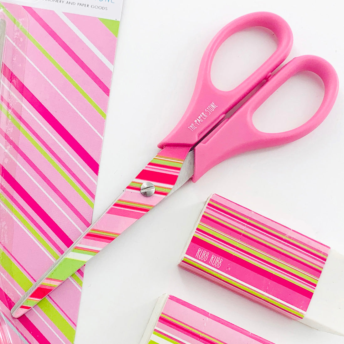 Scissors - Pink Stripes - Pink