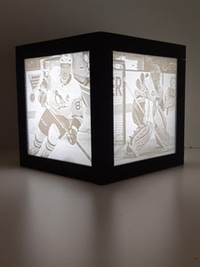 6 x 6 Cube Lamp with 4 Pictures