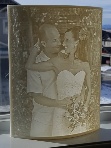 8 x 10 Curved Custom Lithophane Print