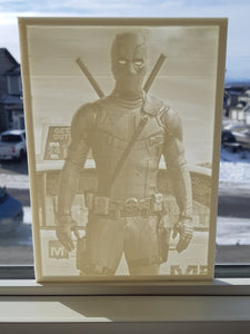 5 x 7 Custom Lithophane Print