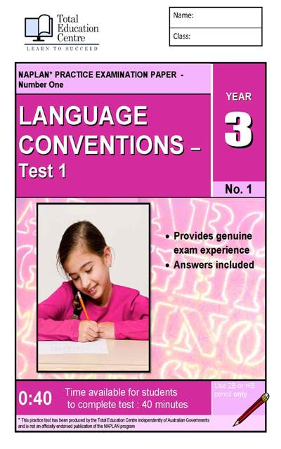 Yr 3 Language Conventions Test 1