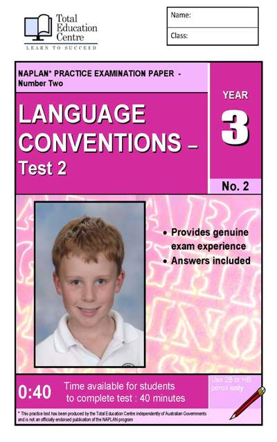 Yr 3 Language Conventions Test 2