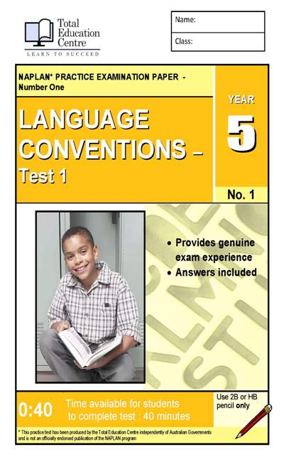 Yr 5 Language Conventions Test 1
