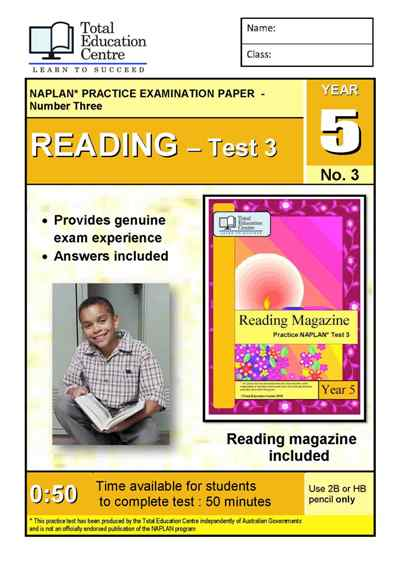 Year 5 NAPLAN Reading Test 3
