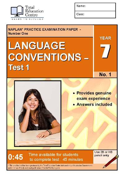 Yr 7 Language Conventions Test 1