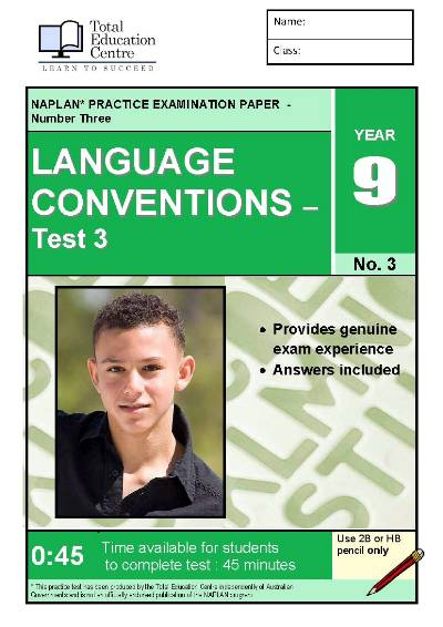 Yr 9 Language Conventions Test 3