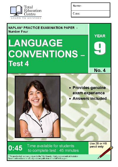 Yr 9 Language Conventions Test 4