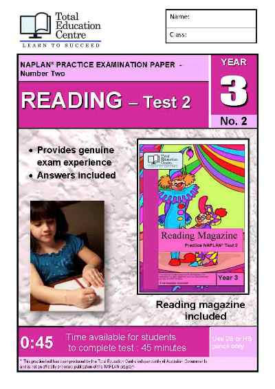 Year 3 NAPLAN Reading Test 2