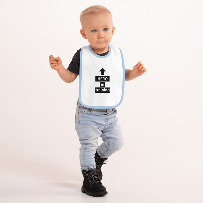 Hero in Training Baby Bib