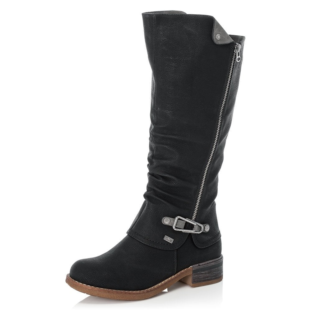 Rieker 94652-00 Ladies Black Boot
