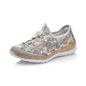 RIEKER N42V1-40 LADIES MULTI LACE UP SHOES