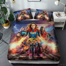 Load image into Gallery viewer, AVENGERS SPIDERMAN IRONMAN STARWARS CAPTAIN AMERICA DUVET COVER & 2-PILLOW CASES -17 STYLES