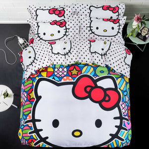 Kids Hello Kitty NEW 2021 COLLECTION Bedding Duvet Cover Bedding Set Twin Full/Queen