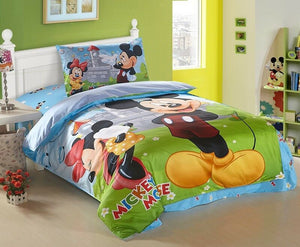 100% Cotton Twill Disney Kids Bedding Quilt Duvet Cover Set Single Twin 3-Piece Bedding Set