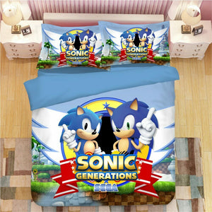 Sonic The Hedgehog 3D Bedding Sets Duvet Cover & 2 Pillow Cases - 15 Styles