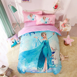 Disney Frozen Velvet Duvet Cover Set Anna Elsa Twin Queen King Pink
