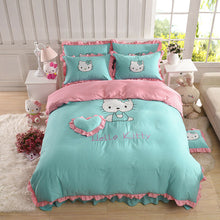 Load image into Gallery viewer, Kids Hello Kitty Bedding Duvet Cover Bedding Set 100% COTTON Twin Full/Queen, King