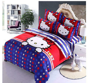 Kids Hello Kitty New 2021 Bedding Duvet Quilt Cover Bedding Set Twin Full Queen
