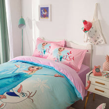 Load image into Gallery viewer, Disney Frozen Velvet Duvet Cover Set Anna Elsa Twin Queen King Pink