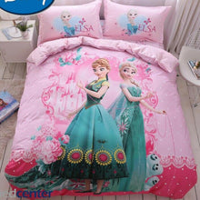 Load image into Gallery viewer, 100% Cotton Twill Disney Frozen Anna Elsa Princess Twin Queen Duvet Cover Bedding Set