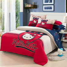 Load image into Gallery viewer, Kids Hello Kitty New 2021 Bedding Duvet Quilt Cover Bedding Set Twin Full Queen