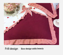 Load image into Gallery viewer, New Four-Piece Bow Set, Thick Brushed Korean Version Of The Princess Style Four-Piece Set