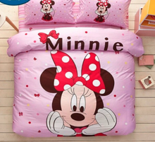 Load image into Gallery viewer, 100% Cotton Micky Minnie Mouse Duvet Cover Kids Bedding Set Twin Full/Queen