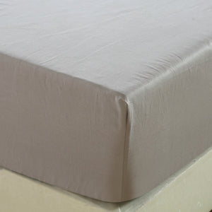 100% Cotton Fitted Sheet Non-slip Mattress Cover Four Corners With Elastic Band Solid Covers Bed cover Multicolor