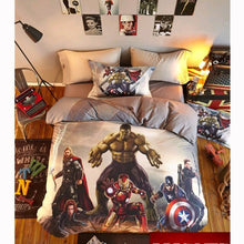 Load image into Gallery viewer, 100% Cotton 3D Spiderman Marvel  Kids Bedding Duvet Set Twin Queen