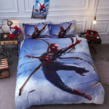 Load image into Gallery viewer, 100% Cotton - Spiderman Superman Avengers Kids 3D Bedding Duvet Set - Twin Queen