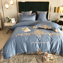 Load image into Gallery viewer, Morpheus Luxury Silky Egyptian Silk-Cotton Royal Embroidery Duvet Cover Set