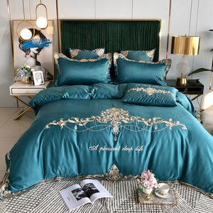 Morpheus Luxury Silky Egyptian Silk-Cotton Royal Embroidery Duvet Cover Set