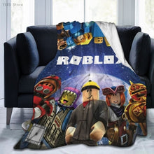 Load image into Gallery viewer, Roblox 3D Cartoon Sherpa Blanket Warm Super Soft Flannel Children Adult Bedspread Sofa Bedding Plush Quilt Plaid