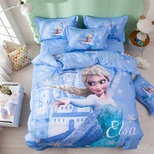 Load image into Gallery viewer, 100% Cotton Amazing Blue Frozen Elsa Princess Duvet Bedding Set Twin Full-Queen 600TC 3D Printed
