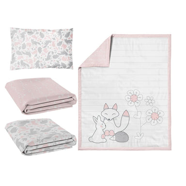 Living Textiles 4 Piece Nursery Set Forest Friends
