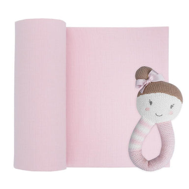Living Textiles Muslin Swaddle & Rattle Sophia the Ballerina