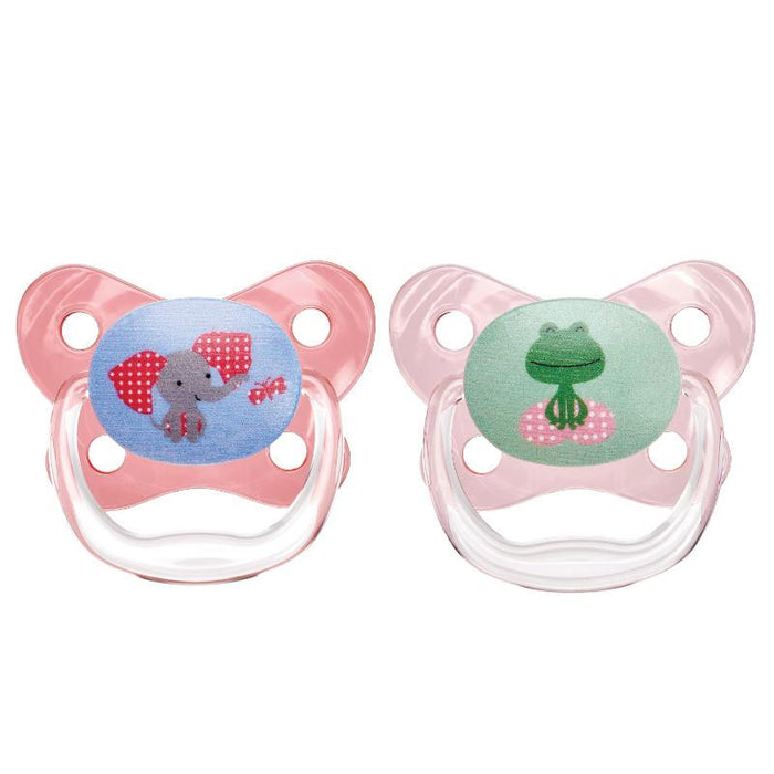 Dr Browns Prevent Contoured Pacifier 6-12 Months Pink 2 Pack