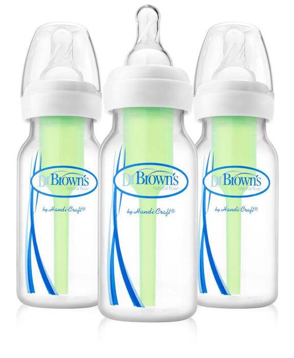 Dr Browns Options+ Narrow Neck 120ml Feeding Bottle 3 Pack