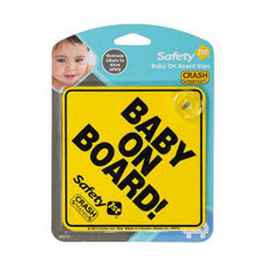 Safety 1st Baby On Board Sign Yellow