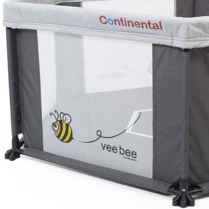 Vee Bee Continental 6 Sided Play Yard Marble Grey