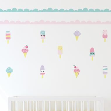 Living Textiles Wall Decal Set Ice Cream - CLEARANCE