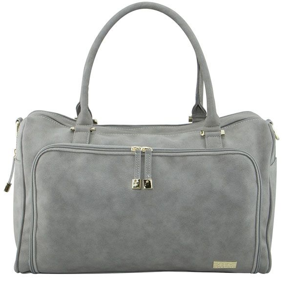 ISOKI Double Zip Satchel Stone Grey