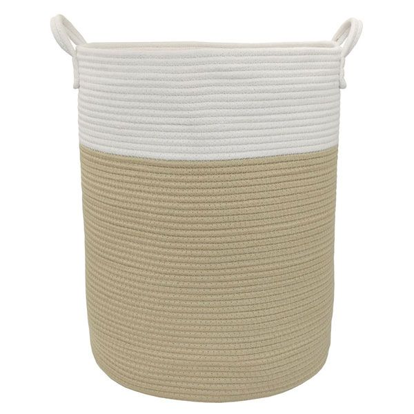 Living Textiles Cotton Rope Hamper Natural