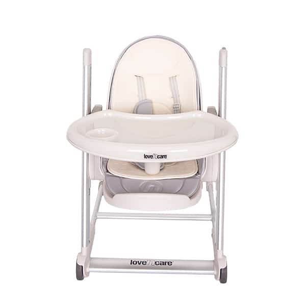 Love N Care Pandora Highchair Silver Frame Grey