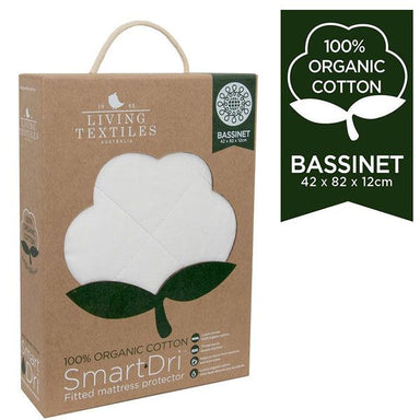 Living Textiles Organic Smart-Dri Bassinet Mattress Protector