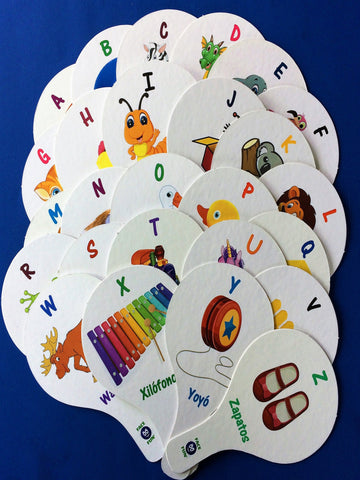 ALPHABET FLASHCARD TEACHING PADDLES - SPANISH